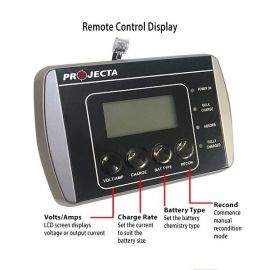 Battery Charger with volts, amps, charge rate, battery type display